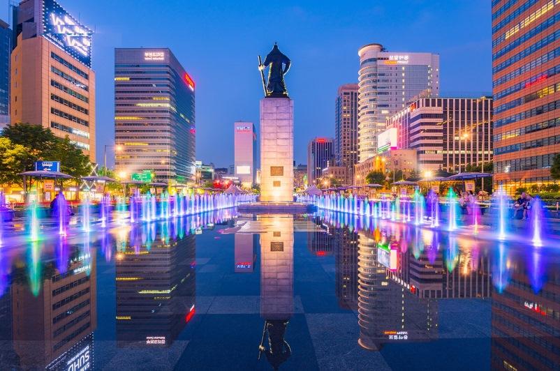 Kết quả hình ảnh cho quảng trường gwanghwamun hàn quốc